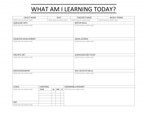 DAILY SHEETS form